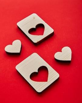 Jigsaw valentijnsdag houten harten