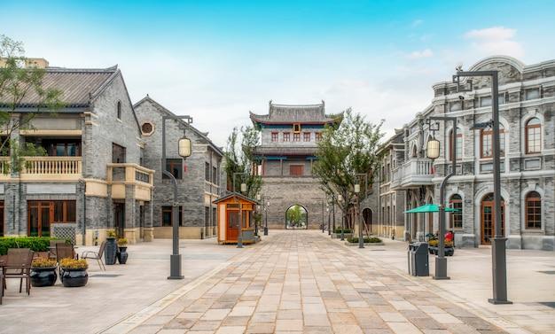 Jimo oude stad gebouw straat