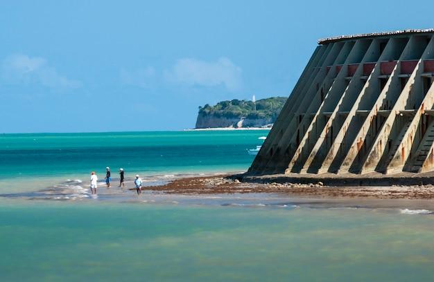 Joao pessoa paraiba brazilië tambau strand met zijn turquoise wateren