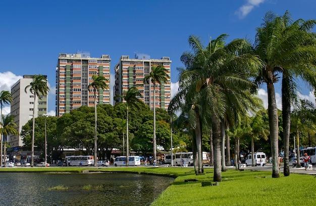 Joao pessoa paraiba brazilië uitzicht op de lagune van parque solon de lucena