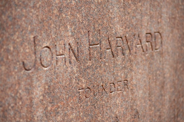 John harvard memorial aan de harvard university in boston, massachusetts, vs.