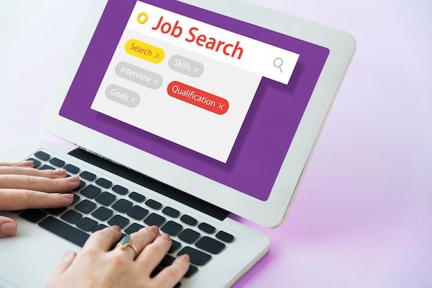 Jon zoeken naar een rekruteringsresumé voor een baan