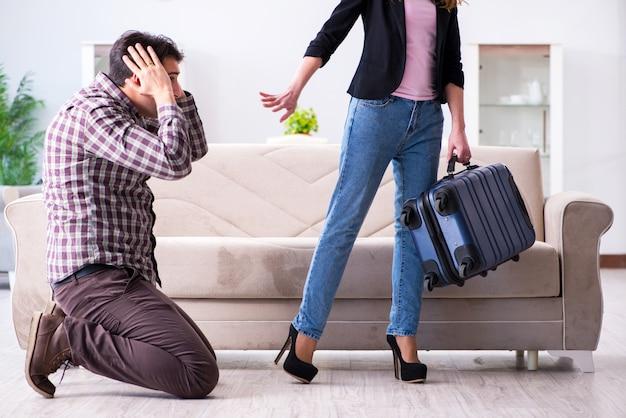 Jong gezin in gebroken relatie concept