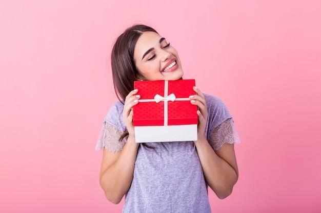 Jong meisje dame uitvoering geschenkdoos