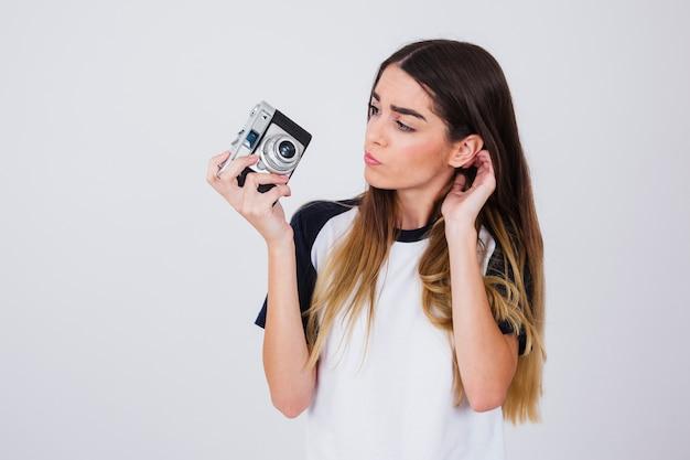Jong meisje met problemen met de camera