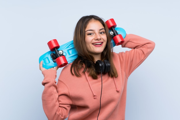 Jong schaatsermeisje over geïsoleerd