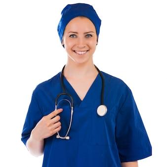 Jong verpleegster volledig lengteportret