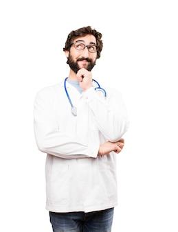 Jonge arts man denken