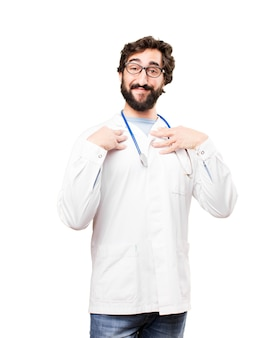 Jonge arts man trotse expressie
