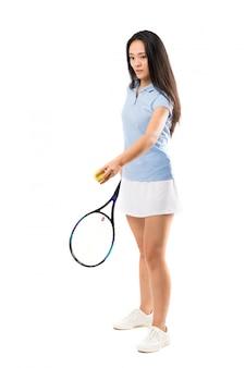Jonge aziatische tennisspeler