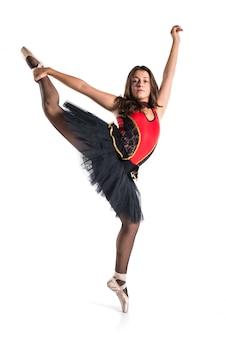 Jonge balletdanser met tutu