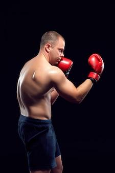 Jonge bokser boksen