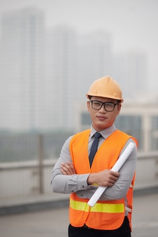Jonge bouwingenieur