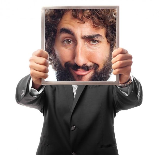 Jonge cool man portret grappen