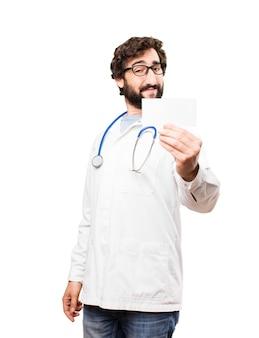 Jonge dokter met naamkaart