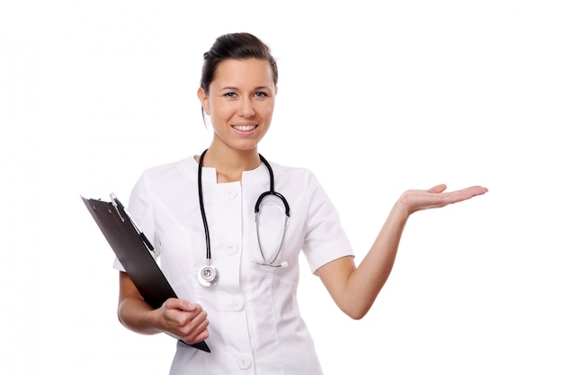 Jonge en mooie arts-assistent