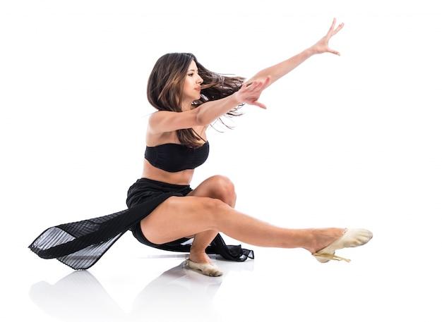 Jonge fitness vrouwelijke dansen