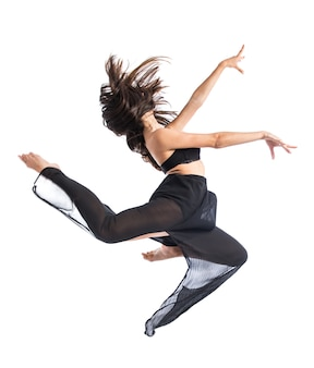 Jonge fitness vrouwelijke springen