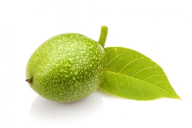 Jonge groene walnoot