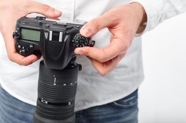 Jonge man fotograaf