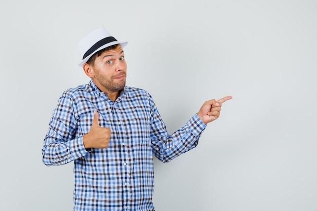 Jonge man in geruit overhemd