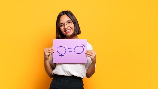 Jonge mooie vrouw gendergelijkheid concept
