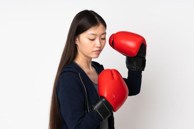 Jonge sport aziatische vrouw