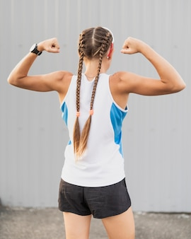 Jonge sportieve spierresultaten