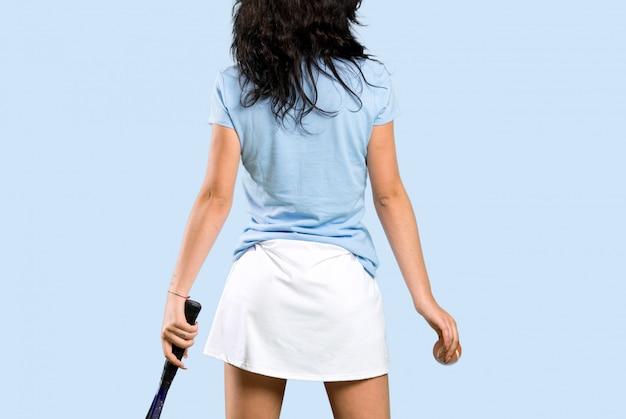 Jonge tennisser vrouw