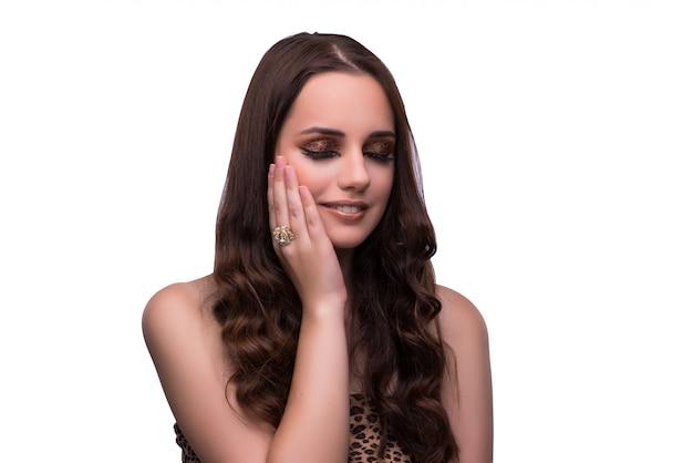 Jonge vrouw in schoonheidsconcept