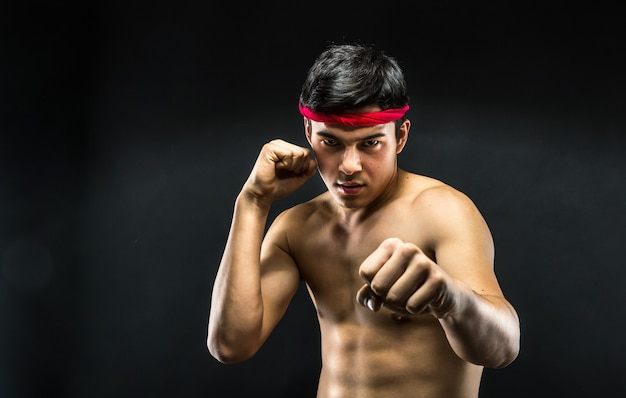 Jonge worstelaar