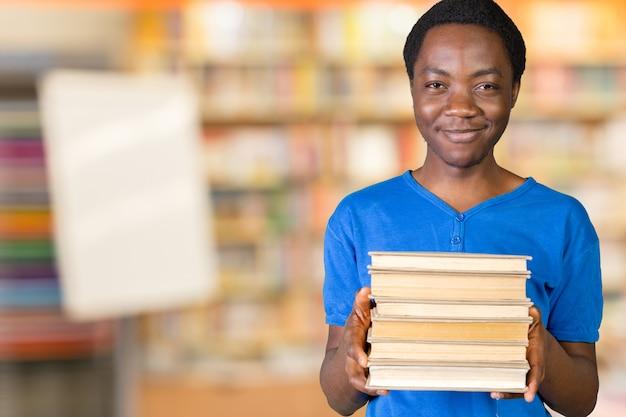 Jonge zwarte student
