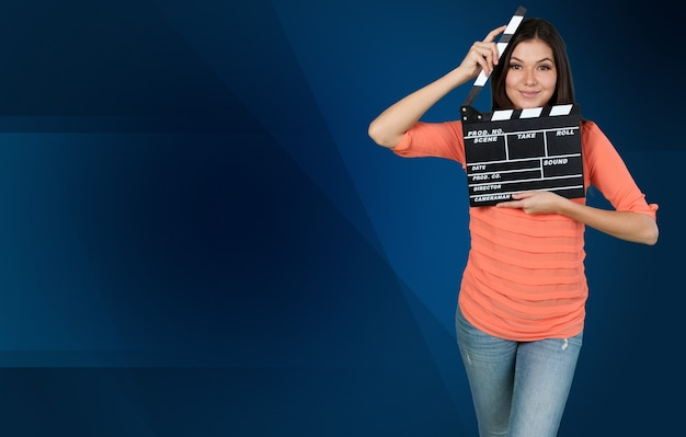 Jongen en film lei