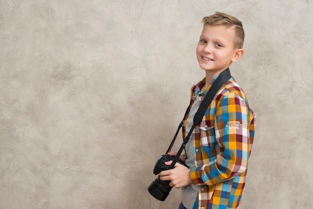 Jongen met camera
