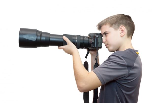Jongen met een camera