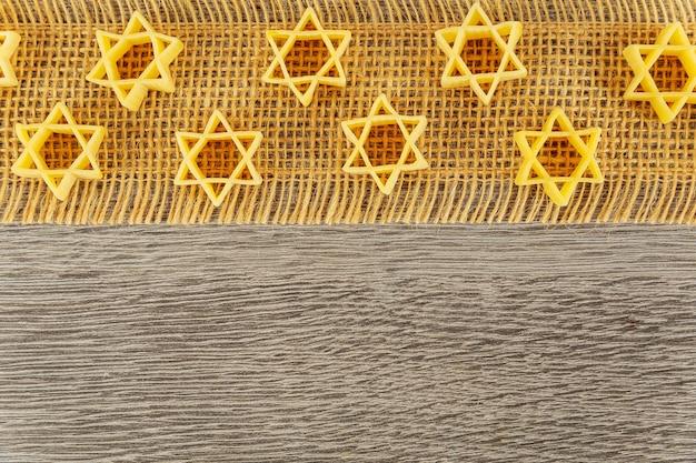 Joods eten producten eten joods vakantie symbool pasta voor bouillon boekweit een traditioneel