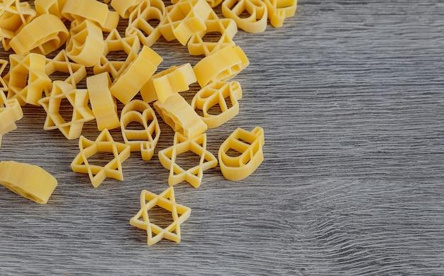 Joods vakantiesymbool pasta voor bouillon boekweit a traditioneel