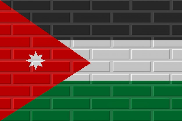 Jordan baksteen vlag illustratie