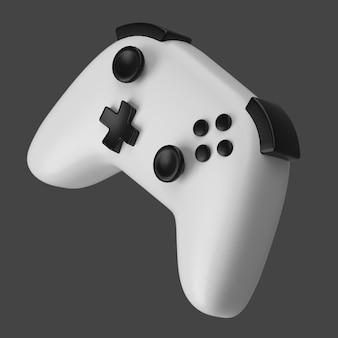 Joystick geïsoleerd op zwarte achtergrond in 3d-ontwerp