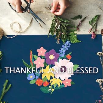 Jubileum dankbaarheid vereerd dankbaar gezegend