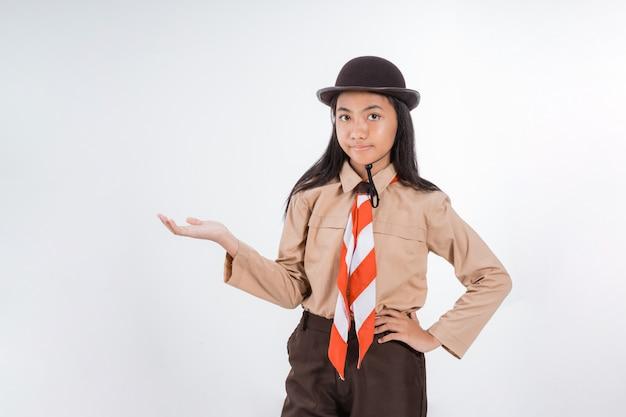 Junior middelbare school tiener student presenteren