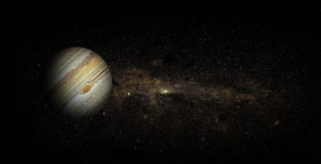 Jupiter op ruimteachtergrond. elementen van deze afbeelding geleverd door nasa.