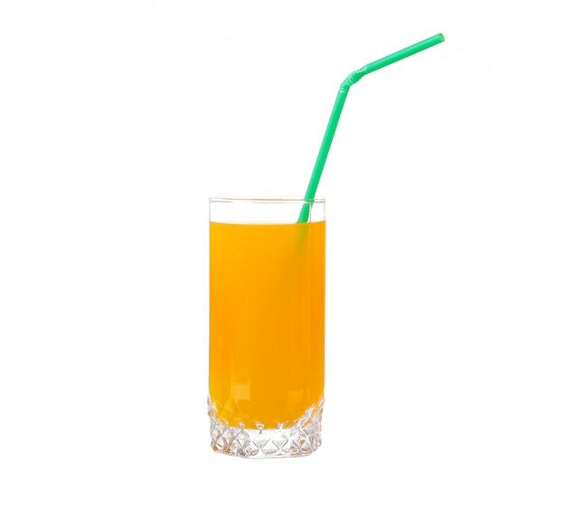 Jus d'orange in een geïsoleerd glas