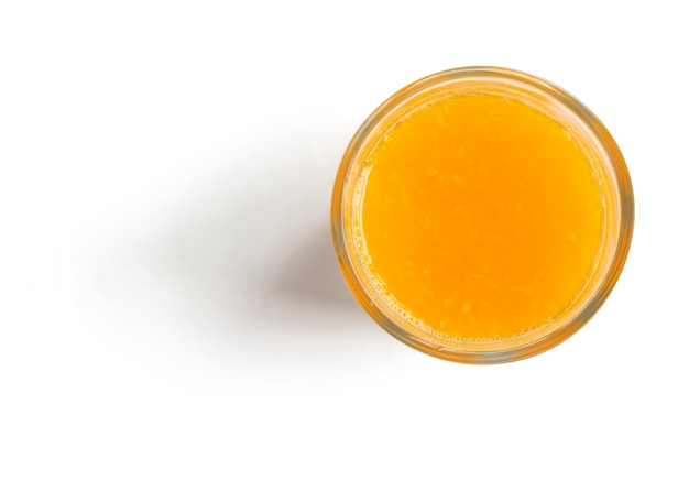 Jus d'orange op wit