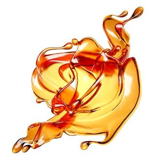 Jus d'orange splash. 3d-afbeelding, 3d-rendering.