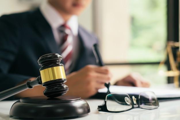 Justitie en wet concept.