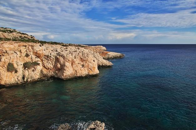 Kaap greco op het eiland van cyprus