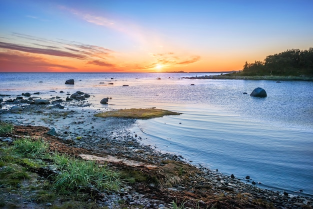 Kaap van labyrinten op de solovetsky-eilanden