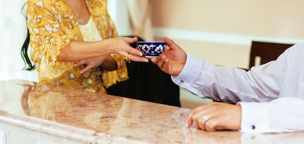 Kaars kerk huwelijksceremonie doopsel