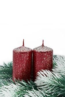 Kaarsen op een spartak.